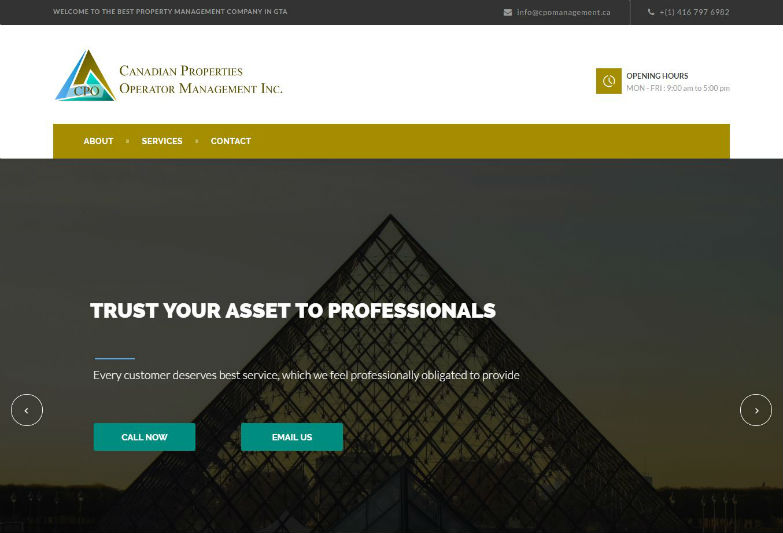 CPO/Canadian Properties Operator Management